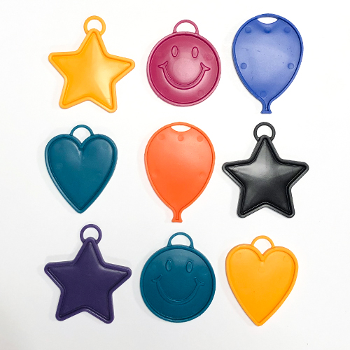 Assorted Bright Plastic Balloon Weight 15g Product Image