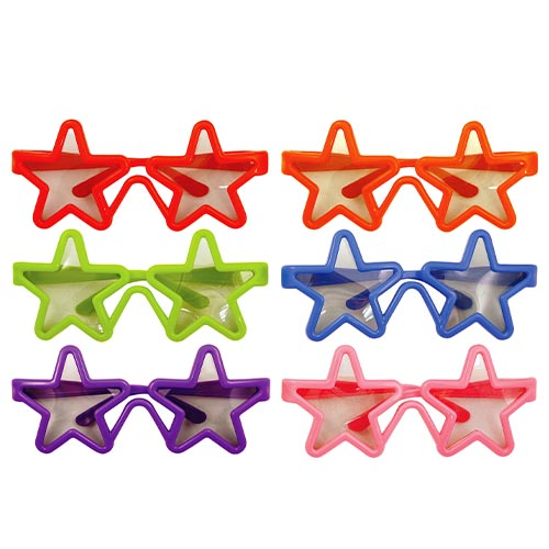 Assorted Children's Star Shaped Glasses Product Image
