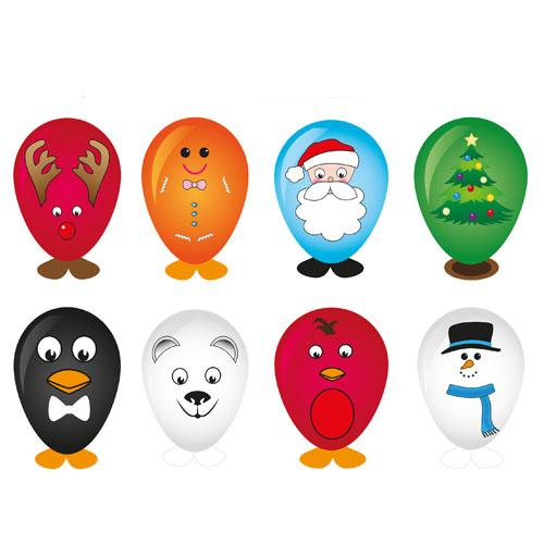 Assorted Christmas Balloon Head Kit Product Image