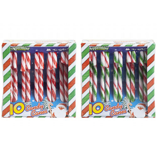 Assorted Christmas Candy Cane Sweets - Pack of 10