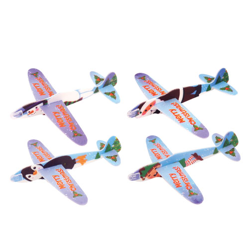 Assorted Christmas Characters Flying Glider Toy 17cm Product Image