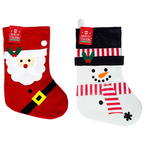 Assorted Christmas Characters Stocking 19cm