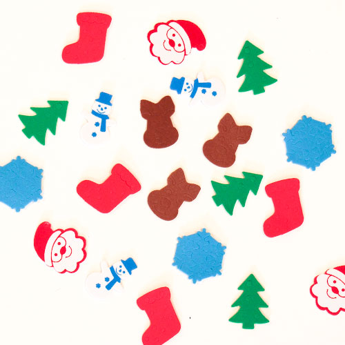 Assorted Christmas Craft Foam Shapes - Pack of 120