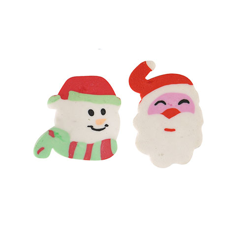 Assorted Christmas Eraser 4cm
