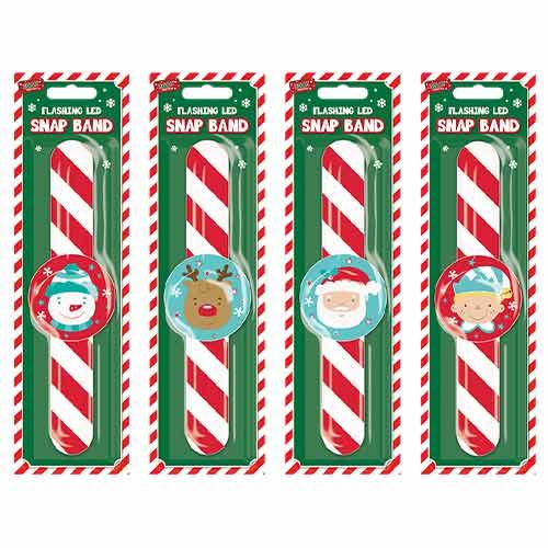 Assorted Christmas Flashing Led Snap Band Product Image