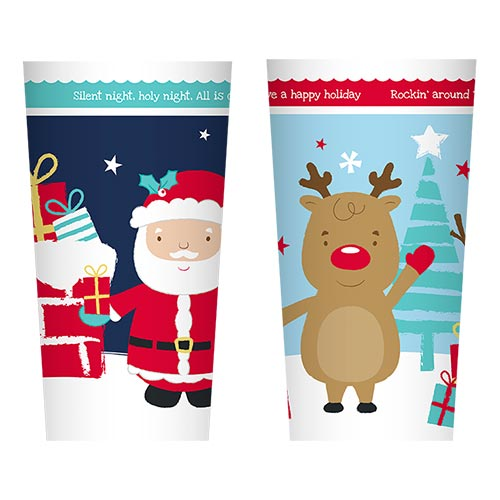 Assorted Christmas Printed Plastic Tumbler Product Image