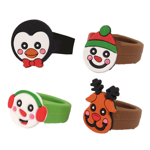 Assorted Christmas Rubber Ring Favour