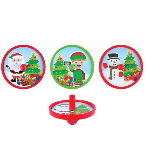 Assorted Christmas Spinning Top Toy 4cm Product Image
