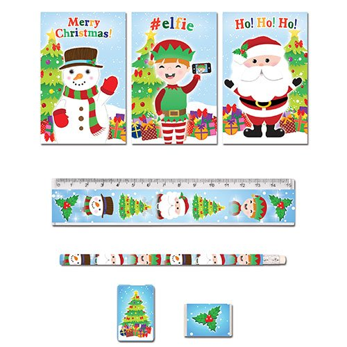 Assorted Christmas Stationery Favor Set Product Image