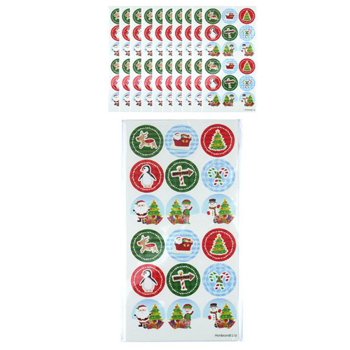 Assorted Christmas Stickers - Pack of 180 Product Image