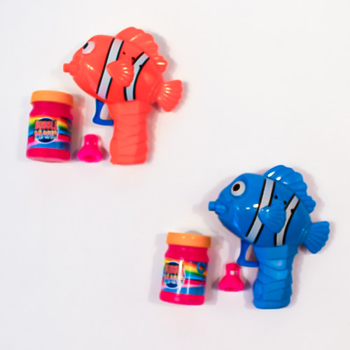 Assorted Clown Fish Friction Bubble Gun with Bubble Solution Product Image