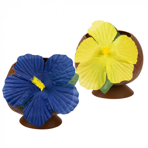 Assorted Reusable Coconut Cup With Flower 400ml Product Image