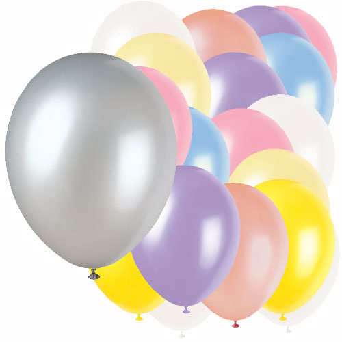 Assorted Colour Plain Biodegradable Latex Balloons - 12 Inches / 30cm - Pack of 100 Product Image