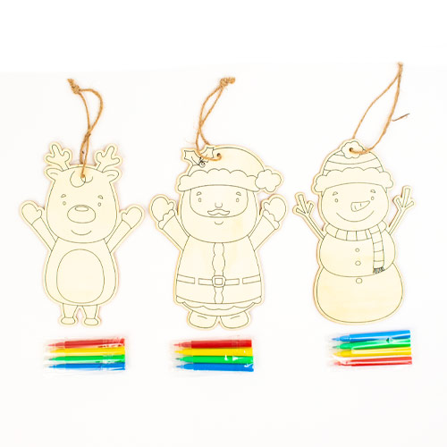 Assorted Colour Your Own Christmas Hanging Decoration Product Image