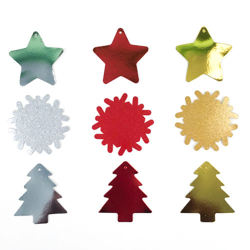 Assorted Colours Christmas Gift Tags - Pack of 36 Product Image