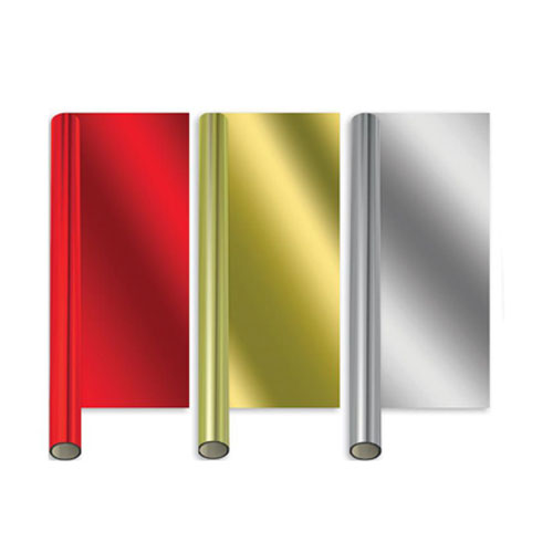 Metallic Assorted Colours Christmas Gift Wrapping Paper 2m - Pack of 3