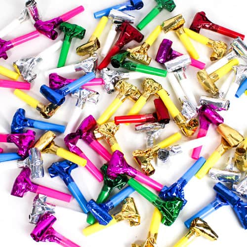 Assorted Colours Foil Blowouts - Pack of 144 Product Image