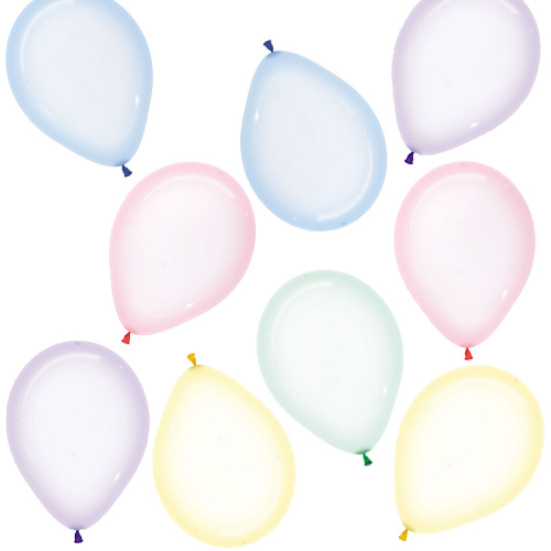 Assorted Crystal Pastel Biodegradable Mini Latex Balloons 13cm / 5 in - Pack of 100 Product Image