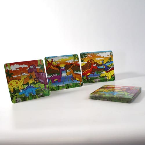 Assorted Dinosaur Jigsaw Puzzle - Pack of 12 Product Image