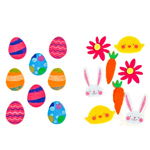 Assorted Easter Felt Embellishments Arts & Crafts - Pack of 8