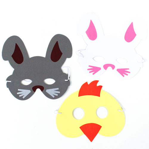 Assorted Easter Foam Masks - Pack of 3 Product Image