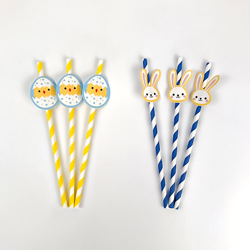 Assorted Easter Paper Straws - Pack of 20