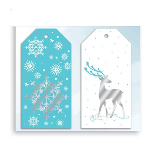 Assorted Metallic Elegant Ice Christmas Gift Tags - Pack of 10 Product Image