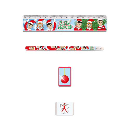 Assorted Elfin Around Christmas Stationery Favour Set Product Image