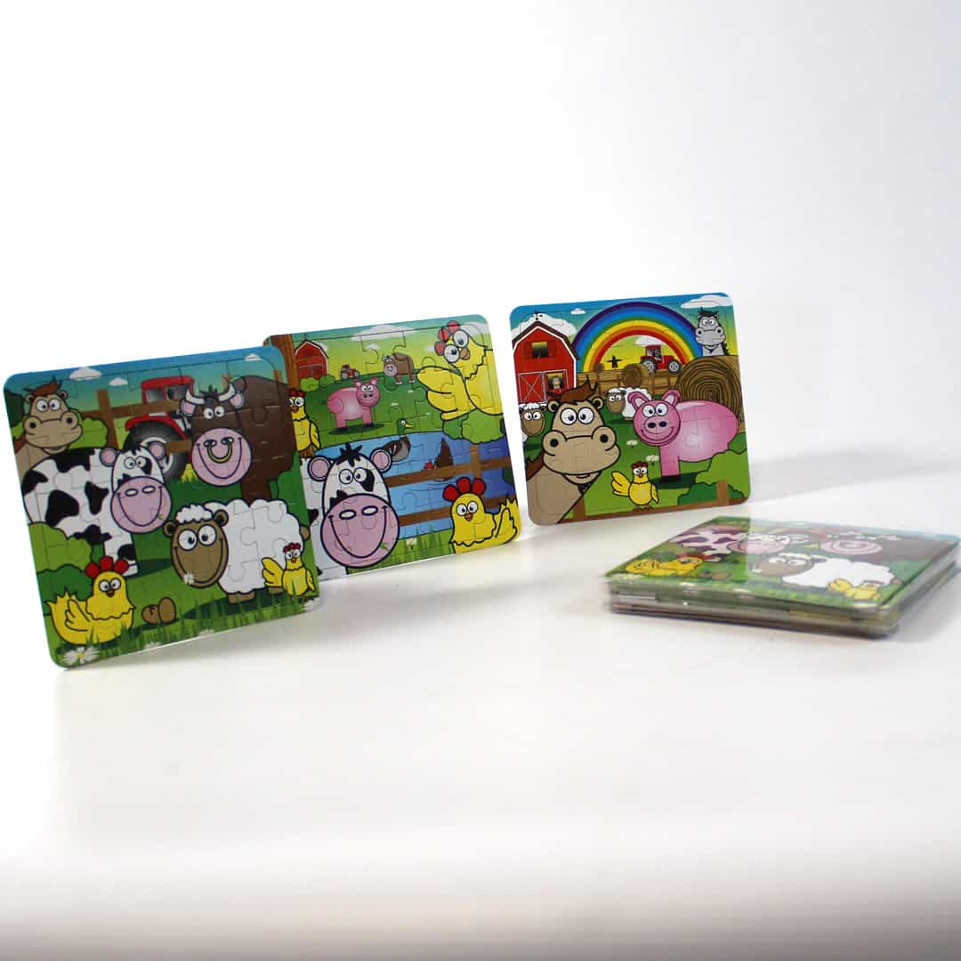 Assorted Farm Jigsaw Puzzle - Pack of 12 Product Image