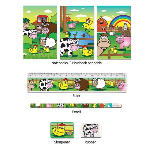 Assorted Farm Stationery Favour Set Product Image