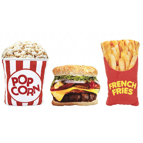 Assorted Fast Food Printed Plush Cushion Product Image