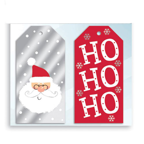 Assorted Metallic Festive Fun Christmas Gift Tags - Pack of 10 Product Image