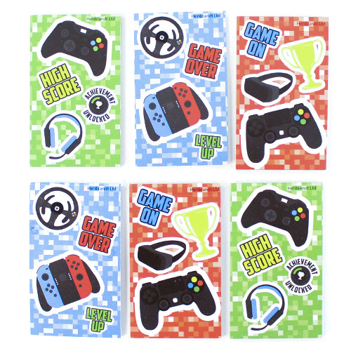 Assorted Gamer Mini Notebooks - Pack of 6 Product Image