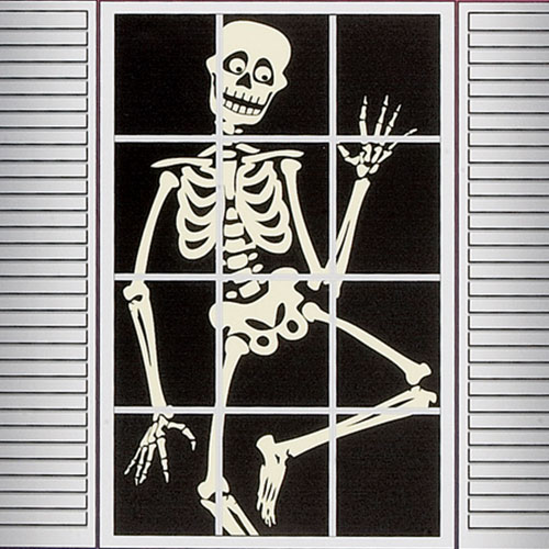 Assorted Ghost And Skeleton Halloween Window Silhouette Decoration 122cm