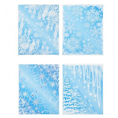 Glitter Snowflakes Christmas Stickers Corner Window Decorations