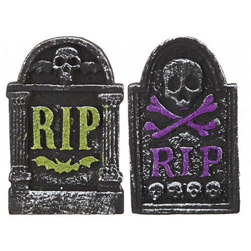 Assorted Glitter Tombstone Halloween Prop Decoration 26cm Product Image