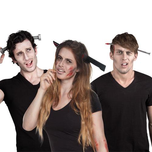 Assorted Plastic Tiara Horror Tool Adult Halloween Fancy Dress