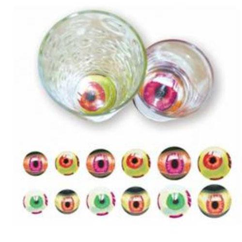 Assorted Halloween Eyeball Tumbler Stickers - Pack of 12
