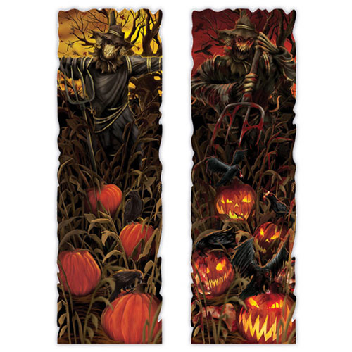 Halloween Field Of Screams Lenticular Sign Wall Hanging Decoration 100cm Product Image
