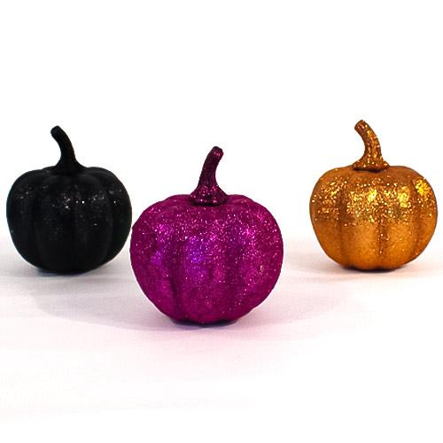 Assorted Halloween Glitter Pumpkin Product Image