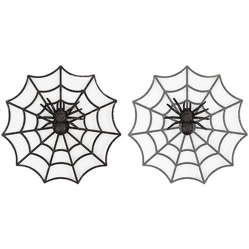 Assorted Halloween Glitter Spider Web Decoration 28cm Product Image