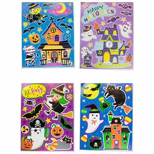 Assorted Halloween Glitter Window Stickers Decorations Product Image