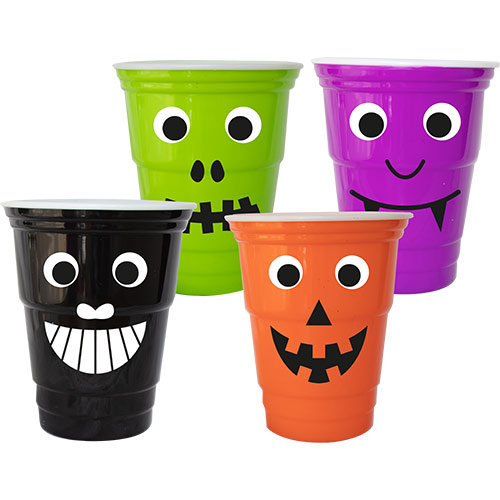 Assorted Halloween Googly Eyes Reusable Plastic Cup 450ml Product Image