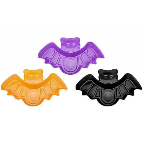 Assorted Halloween Reusable Bat Shaped Plastic Tray 29cm Product Image