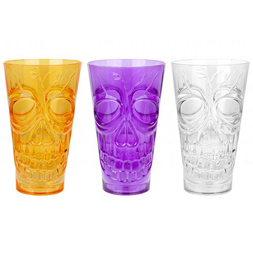 Assorted Halloween Reusable Plastic Skull Cup 500ml Product Image