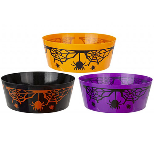 Assorted Halloween Reusable Round Plastic Bowl 22cm Product Image
