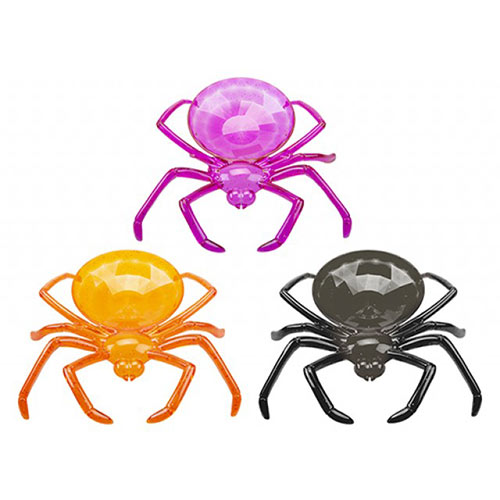 Assorted Halloween Reusable Spider Shaped Plastic Bowl 24cm Product Image