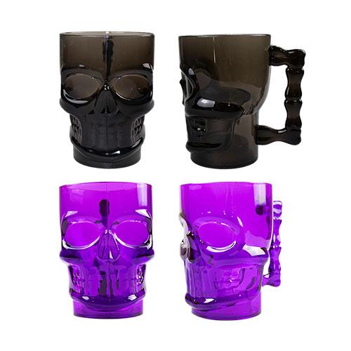Assorted Halloween Reusable Skull Shaped Mug Product Image