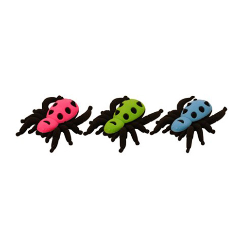Assorted Halloween Spider Erasers 6cm Product Image