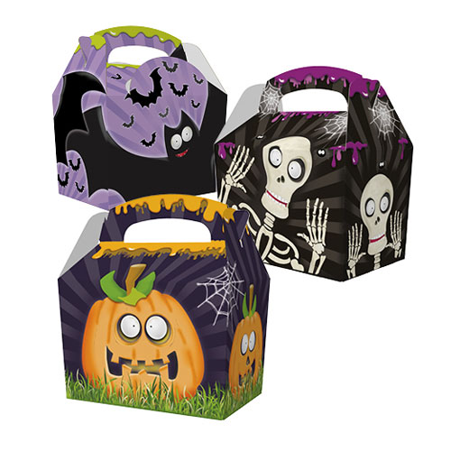 Assorted Halloween Spooky Time Compostable Paper Party Box